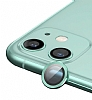 Apple iPhone 12 mini 5.4 inç Metal Kenarlı Cam Yeşil Kamera Lensi Koruyucu