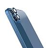 Wiwu iPhone 12 Mini Mavi Metal Kamera Lens Koruyucu