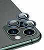 Apple iPhone 12 Pro Max 6.7 inç Metal Kenarlı Cam Lacivert Kamera Lensi Koruyucu
