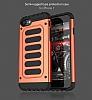 Araree Wrangler Force iPhone 7 / 8 Ultra Koruma Magma Orange Kılıf - Resim 11