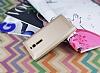 Asus ZenFone 2 İnce Yan Kapaklı Uyku Modlu Gold Kılıf - Resim 2