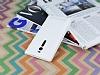 Asus ZenFone 2 İnce Yan Kapaklı Uyku Modlu Beyaz Kılıf - Resim 2
