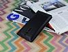 Asus ZenFone 2 İnce Yan Kapaklı Uyku Modlu Siyah Kılıf - Resim 2