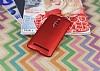 Asus ZenFone 2 ZE551ML Tam Kenar Koruma Kırmızı Rubber Kılıf - Resim 1