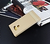 Asus ZenFone 3 Max ZC553KL Gizli Mıknatıslı Yan Kapaklı Gold Deri Kılıf - Resim 1