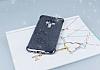 Asus ZenFone 3 ZE552KL Simli Siyah Silikon Kılıf - Resim 1