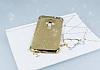 Asus ZenFone 3 ZE552KL Simli Gold Silikon Kılıf - Resim 1