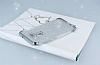 Asus ZenFone 3 ZE552KL Simli Silver Silikon Kılıf - Resim 2