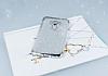 Asus ZenFone 3 ZE552KL Simli Silver Silikon Kılıf - Resim 1