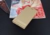 Asus Zenfone 4 Max ZC554KL Gizli Mıknatıslı Standlı Gold Deri Kılıf - Resim 1