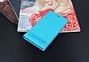 Asus Zenfone 4 Max ZC554KL Gizli Mıknatıslı Standlı Mavi Deri Kılıf - Resim 1