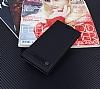 Asus ZenFone 4 Selfie ZD553KL Gizli Mıknatıslı Yan Kapaklı Siyah Deri Kılıf - Resim 1