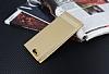 Asus ZenFone 4 ZE554KL Gizli Mıknatıslı Pencereli Gold Deri Kılıf - Resim 2