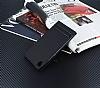 Asus Zenfone Live ZB501KL Gizli Mıknatıslı Yan Kapaklı Siyah Deri Kılıf - Resim 1