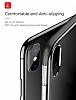 Baseus Armor iPhone X Lacivert Kenarlı Silikon Kılıf - Resim 1