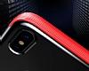 Baseus Armor iPhone X Lacivert Kenarlı Silikon Kılıf - Resim 5