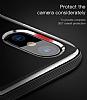 Baseus Armor iPhone X Lacivert Kenarlı Silikon Kılıf - Resim 7