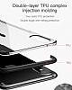 Baseus Armor iPhone X Lacivert Kenarlı Silikon Kılıf - Resim 2