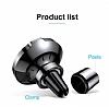 Baseus Big Ears Kablosuz Şarj Özellikli Havalandırma Manyetik Tutucu - Resim 1