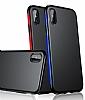 Baseus Bumper iPhone X Kırmızı Kenarlı Silikon Kılıf - Resim 4