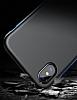 Baseus Bumper iPhone X Kırmızı Kenarlı Silikon Kılıf - Resim 6