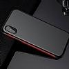 Baseus Bumper iPhone X Kırmızı Kenarlı Silikon Kılıf - Resim 9