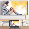 Baseus C-Video Type-C Girişi HDMI Girişe Dönüştüren Adaptör 1.80m - Resim 7