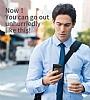 Baseus Card Pocket iPhone X Silikon Kenarlı Lacivert Rubber Kılıf - Resim 6
