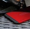 Baseus Card Pocket iPhone X Silikon Kenarlı Lacivert Rubber Kılıf - Resim 3