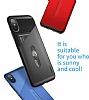 Baseus Card Pocket iPhone X Silikon Kenarlı Lacivert Rubber Kılıf - Resim 2