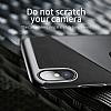 Baseus Card Pocket iPhone X Silikon Kenarlı Lacivert Rubber Kılıf - Resim 5