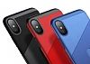Baseus Card Pocket iPhone X Silikon Kenarlı Kırmızı Rubber Kılıf - Resim 7