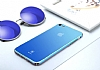Baseus Glass iPhone 7 Plus / 8 Plus Mavi Rubber Kılıf - Resim 4