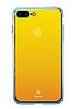 Baseus Glass iPhone 7 Plus / 8 Plus Sarı Rubber Kılıf - Resim 4