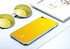 Baseus Glass iPhone 7 Sarı Rubber Kılıf - Resim 1