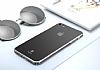 Baseus Glass iPhone 7 Siyah Rubber Kılıf - Resim 1