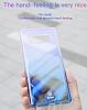 Baseus Glaze Samsung Galaxy Note 8 Pembe Rubber Kılıf - Resim 6