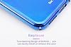 Baseus Glaze iPhone X Mor Rubber Kılıf - Resim 8