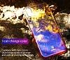 Baseus Glaze iPhone X Mor Rubber Kılıf - Resim 6