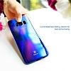 Baseus Glaze Samsung Galaxy S8 Plus Mavi Rubber Kılıf - Resim 3