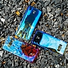 Baseus Glaze Samsung Galaxy S8 Mavi Rubber Kılıf - Resim 3