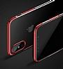 Baseus Glitter iPhone X Siyah Kenarlı Şeffaf Rubber Kılıf - Resim 7