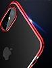 Baseus Glitter iPhone X Siyah Kenarlı Şeffaf Rubber Kılıf - Resim 2