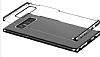 Baseus Glitter Samsung Galaxy Note 8 Tam Kenar Koruma Siyah Rubber Kılıf - Resim 1