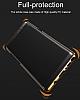 Baseus Glitter Samsung Galaxy Note 8 Tam Kenar Koruma Siyah Rubber Kılıf - Resim 8