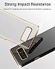 Baseus Glitter Samsung Galaxy Note 8 Tam Kenar Koruma Siyah Rubber Kılıf - Resim 9