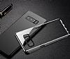 Baseus Glitter Samsung Galaxy Note 8 Tam Kenar Koruma Siyah Rubber Kılıf - Resim 6