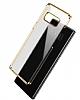 Baseus Glitter Samsung Galaxy Note 8 Tam Kenar Koruma Siyah Rubber Kılıf - Resim 2