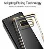 Baseus Glitter Samsung Galaxy Note 8 Tam Kenar Koruma Siyah Rubber Kılıf - Resim 3