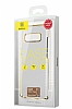 Baseus Glitter Samsung Galaxy Note 8 Tam Kenar Koruma Lacivert Rubber Kılıf - Resim 1